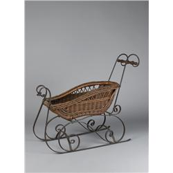 American Childs Wood And Iron Mounted Sleigh
