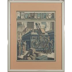 Framed Fortune Magazine Cover~August 1933