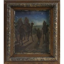 G. Robinson, Oil on Board; Three Wiseman