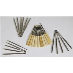 Collection of Antique Nut Picks including Ivory