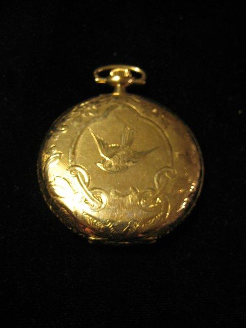 14kt gold closed face pocket watch by waltham