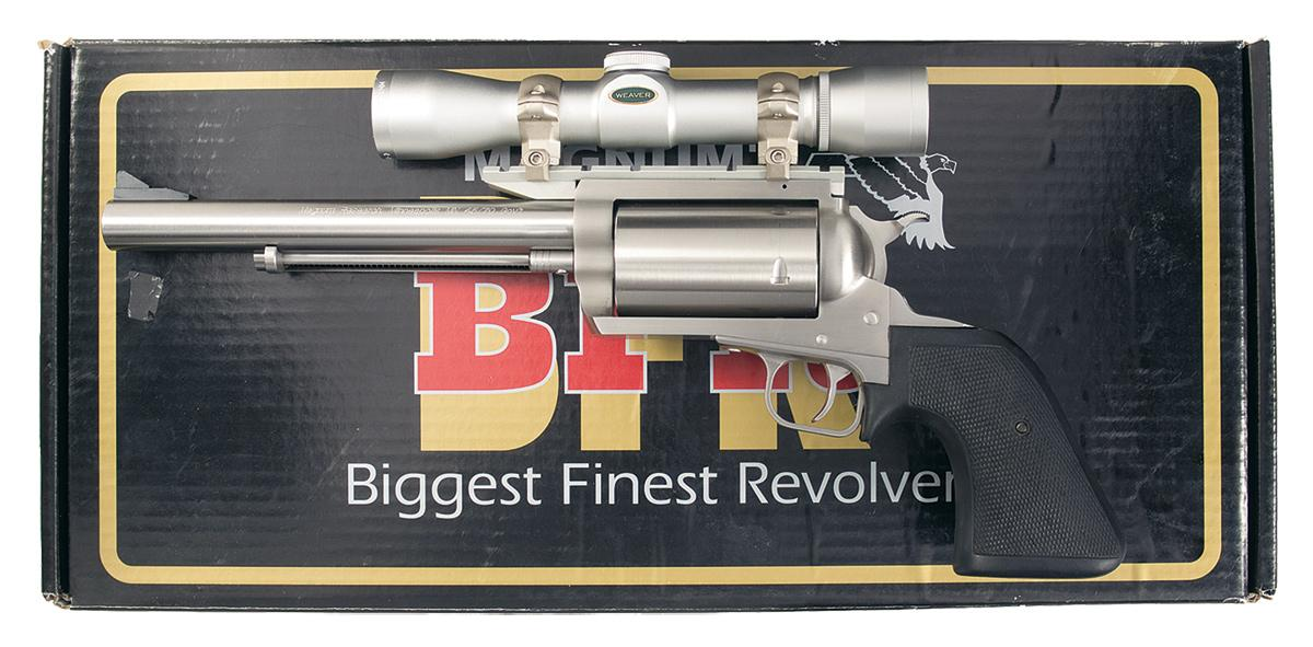 Magnum Research Bfr Single Action Revolver With Scope In 45 70