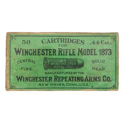 Sealed Box of 44 Caliber Cartridges for a Winchester Model 1873 Rifle