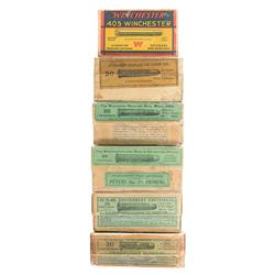 Six Various Boxes of Vintage Rifle Cartridges