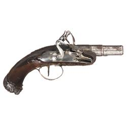French Flintlock Pocket Pistol