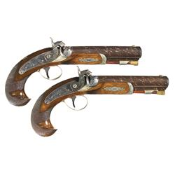 Extraordinary Pair of Henry Deringer Medium Sized Pocket Pistols -A) Henry Deringer Philadelphia Pro