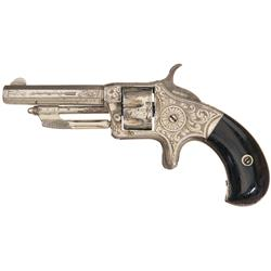 Rare Exhibition Quality Factory Engraved Wesson & Harrington Number 2, .22 Caliber Single Action Rev