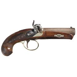 Fine Engraved and Silver Inlaid R.P. Bruff New York Derringer Pistol