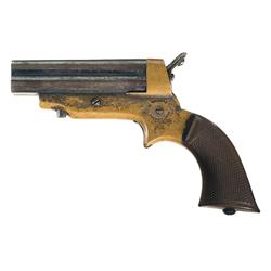 Sharps Model 2A Pepperbox Pistol with Gutta Perca Grips