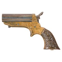 Inscribed Sharps Model 1A Four Barrel Pistol