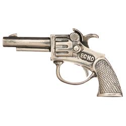 Unique Tiffany & Company Marked  Echo  Solid Silver Cap Pistol