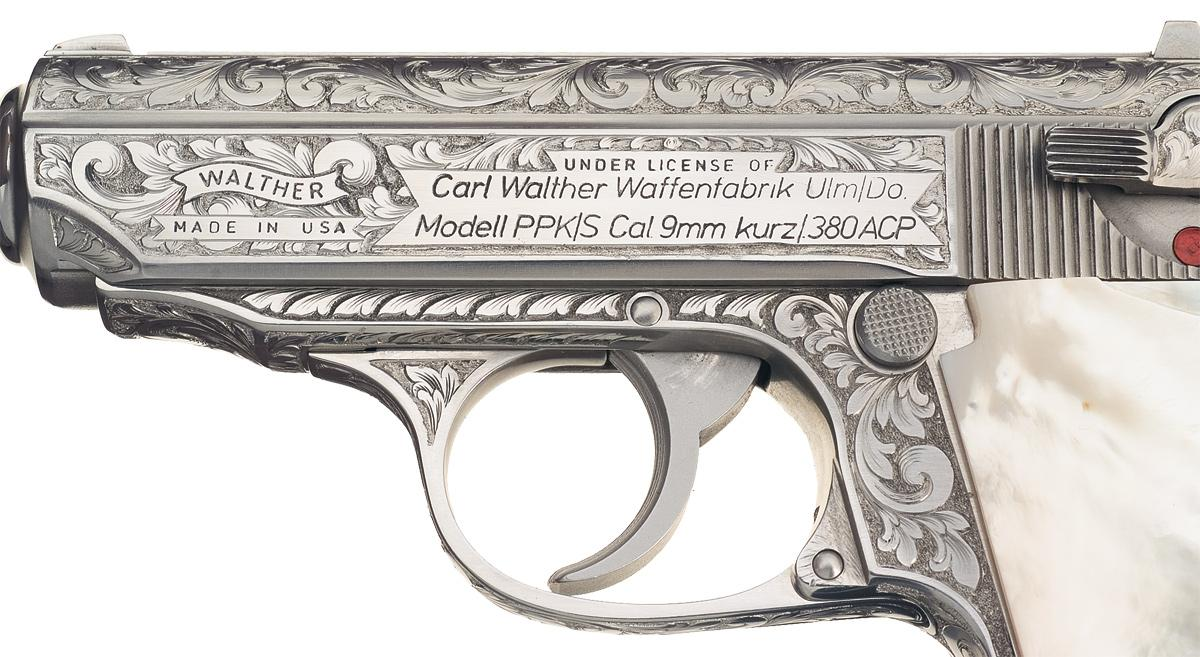 Factory Engraved American Walther PPK/S Semi Automatic Pistol with ...