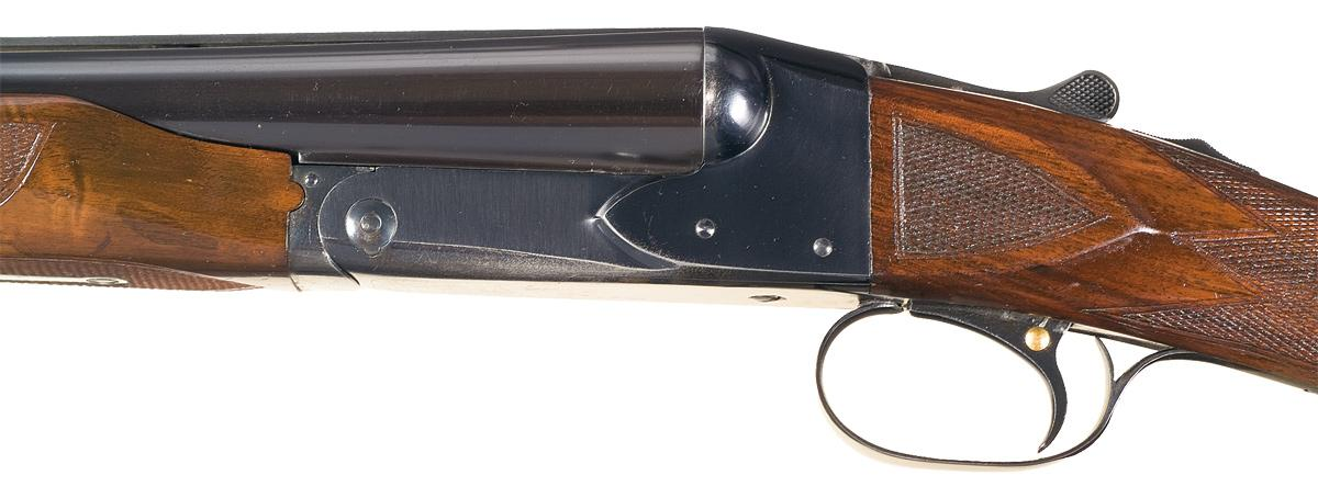 custom special order winchester model 21 double barrel shotgun with