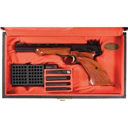 Excellent Belgian Browning Medalist Semi-Automatic Target Pistol with Case and Accessories