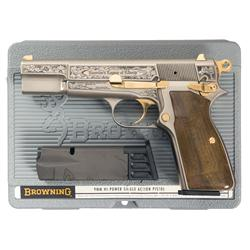 Cased Belgian Browning Hi-Power America's Legacy of Liberty Commemorative Semi-Automatic Pistol