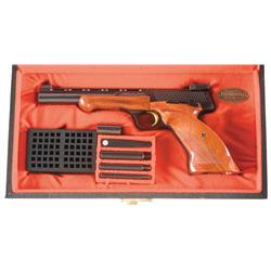 Cased Browning Medalist Semi-Automatic Target Pistol with Accessories