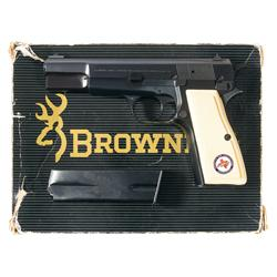 Belgian Browning 30 Luger Caliber High Power Pistol with Extra Magazine, Laser Sight, and Houston Gu