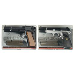 Two Cased Browning Hi-Power Semi-Automatic Pistols -A) Browning Hi-Power Semi-Automatic Pistol with