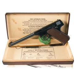 Excellent Colt Woodsman First Series Target Model Semi Automatic Pistol with Original Box