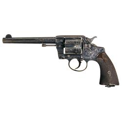 Factory Engraved Colt New Army /New Navy Double Action Revolver with Factory Letter