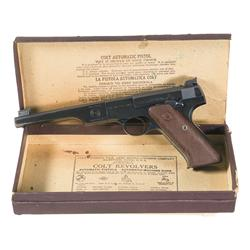 Colt First Series Woodsman Match Target Semi-Automatic Pistol with Box