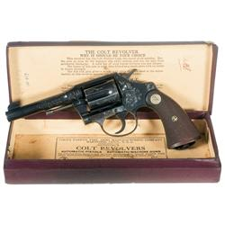 Rare Factory Engraved Colt Police Positive Double Action Revolver