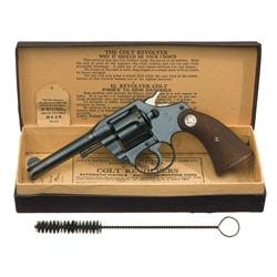 Excellent Pre-War Colt Police Positive Double Action Revolver with Original Box