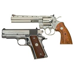 Colt Double Diamond Handgun Set -A) Colt Double Diamond Diamondback Double Action Revolver with Belt