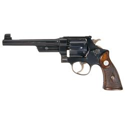 Very Rare Smith & Wesson Pre-War 1926 44 Hand Ejector 3rd Model Target Double Action Revolver with F