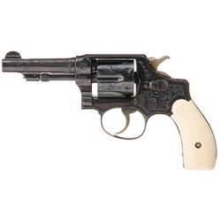 Kornbrath Factory Engraved Smith & Wesson Third Model .32 Hand Ejector with Ivory Grips and Factory