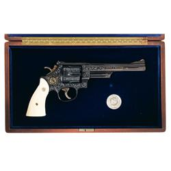 Extremely Rare Cased Class A Factory Engraved Smith & Wesson 125th Anniversary Commemorative .45 cal