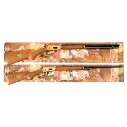 Pair of Consecutively Serial Numbered Boxed Winchester Model 94 Lone Star State Commemorative Long G