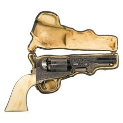 Exceptional Colt Model 1849 Pocket Revolver with Deluxe Factory Gustave Young Engraving, Ivory Grip