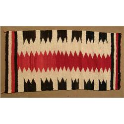 Navajo Traditional Serrated Design Rug