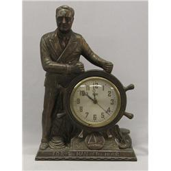 United Metal Electric Clock FDR The Man Of The Hour