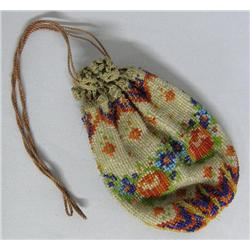Antique Victorian Beaded Floral Purse