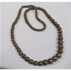 Estate Necklace Dark Brown Graduated Beads