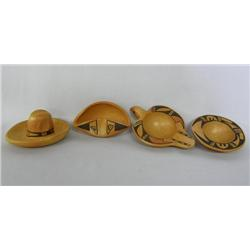 4pc 1960 Hopi Traditional Pottery by Corinne Ami