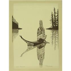 Northwest Coast Print Signed P. L. Andriesen