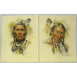 2 1973 Signed & Numbered Prints by Harley Brown
