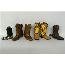 6 Miniature Cowboy Boots, 2 are Frankoma