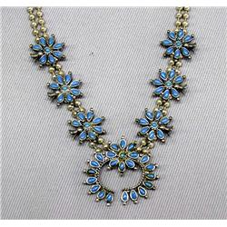 Turquoise Child's Squash Blossom Necklace