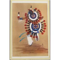 Signed & Numbered Print War Dancer By Lee Joshua
