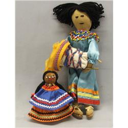 2 Native American Dolls, one Seminole and one Apache