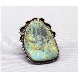 Navajo Turquoise Silver Ring Size 9