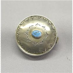 Navajo Silver Turquoise Pill Box