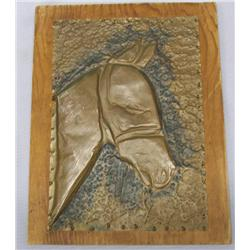 Vintage Copper Horsehead Plaque By Louis