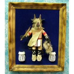 Framed Wolfman Kachina