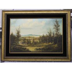 Original Early Painting By Lester Hughes