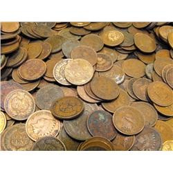 Lot of 50 Indian Head Pennies-1900s-cleaned